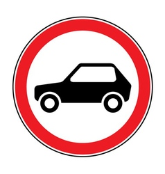 no car sign vector image