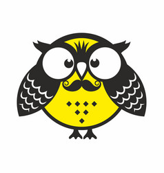 Owl with mustache vector
