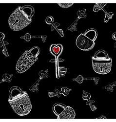 Padlocks and keys vector image