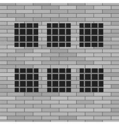 Prison grey brick wall vector