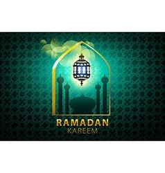 Ramadan kareem islamic design banner background vector