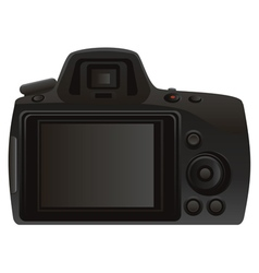 Rear View of Camera vector image