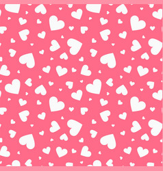seamless pattern with hearts happy vector image vector image