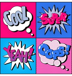 Set of Comics Bubbles in Vintage Style Expressions vector image