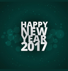 Stylish happy new year text on green background vector