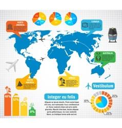 Tourism infographic elements set vector image vector image