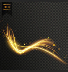 transparent light effect in golden color vector image vector image