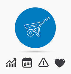 trolley icon garden cart sign vector image vector image