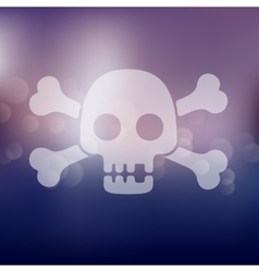 Skull icon on blurred background vector