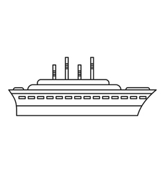 Ship icon outline style vector