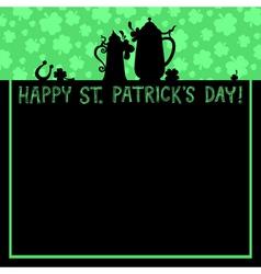 Patrick background vector image