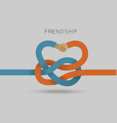 Partnership concept in flat style vector