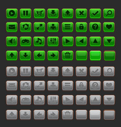 Game buttons gui pack vector