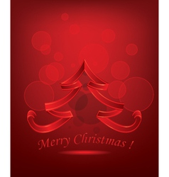 Abstract red christmas tree vector