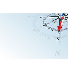 Compass south background vector
