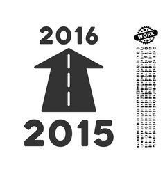 2016 future road icon with professional bonus vector