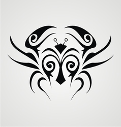 Tribal crab vector