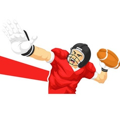 Football player quarterback throwing ball vector
