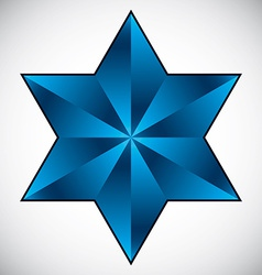 Six point star symbol vector