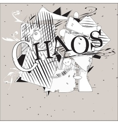 Chaos background vector
