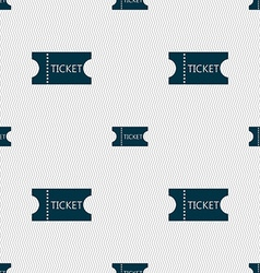 Ticket icon sign seamless abstract background with vector