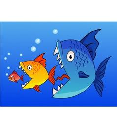 fish eat fish vector image