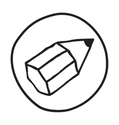 Doodle pencil icon vector