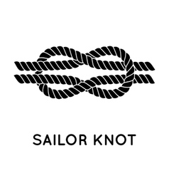 Sailor rope knot vector