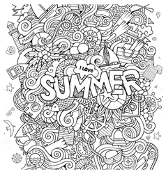 Doodles abstract decorative summer background vector