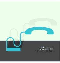 Abstract background with the handset vector image