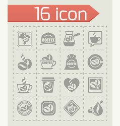 Coffe icon set vector