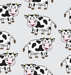 cute cow pattern vector image vector image