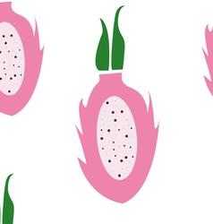 Dragon fruit pattern vector image vector image
