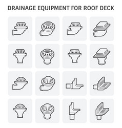 drainage equipment icon vector image vector image