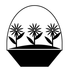 Flowers icon simple style vector