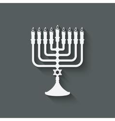 Hanukkah menorah symbol vector