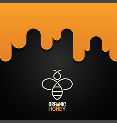 Honey bee logo design background vector
