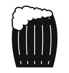 Keg of beer icon vector image