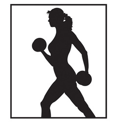 Person working out vector