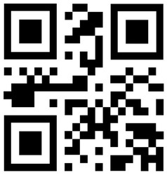 Qr code says HOT DEALS vector image vector image