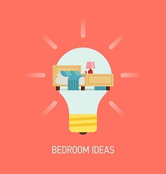 Room ideas for a bedroom vector