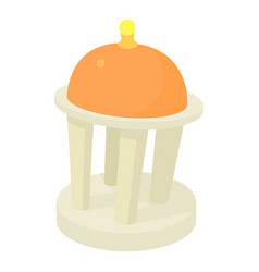Rotunda icon cartoon style vector