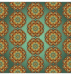 Seamless Background With Circle Ornament vector image