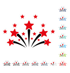star fireworks icon vector image