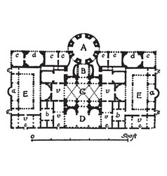 Thermae of caracalla plan of central block vector