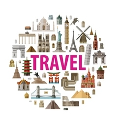 travel logo design template world or vector image vector image