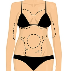Woman is preparing to plastic surgery vector image vector image