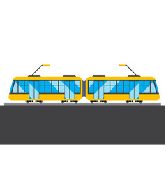 Yellow train picture vector