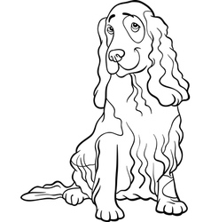 Cocker spaniel dog cartoon for coloring book vector