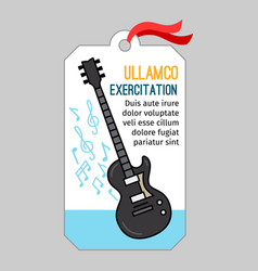 Music tag with guitar vector